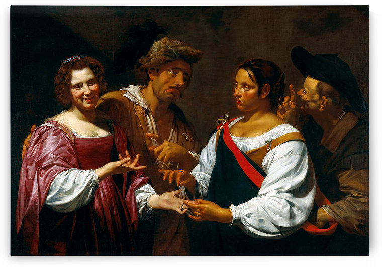 Palm reader by Simon Vouet