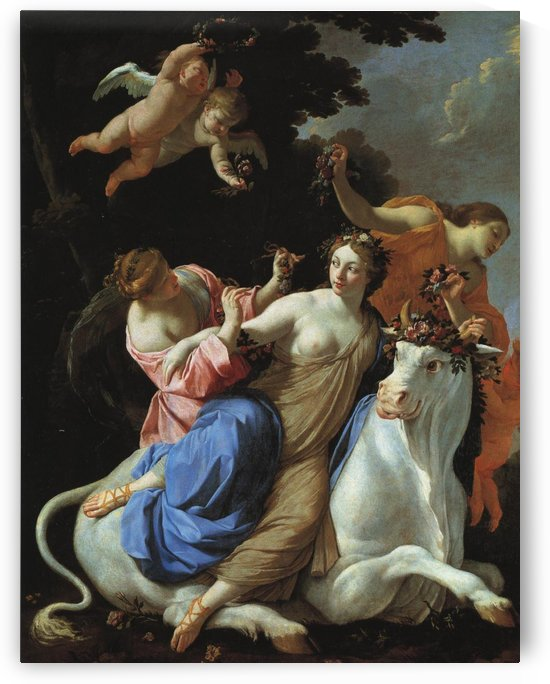 The rape of Europa by Simon Vouet