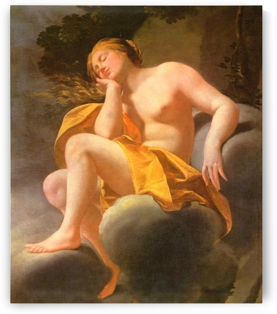 Sleeping Venus on clouds by Simon Vouet