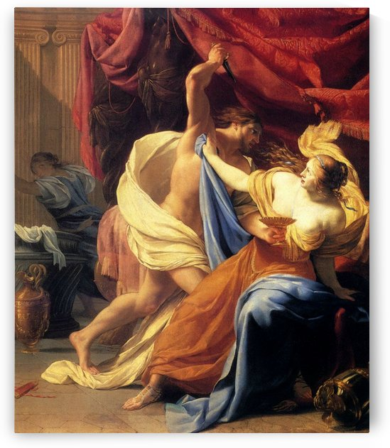 Lucretia and Tarquin by Simon Vouet