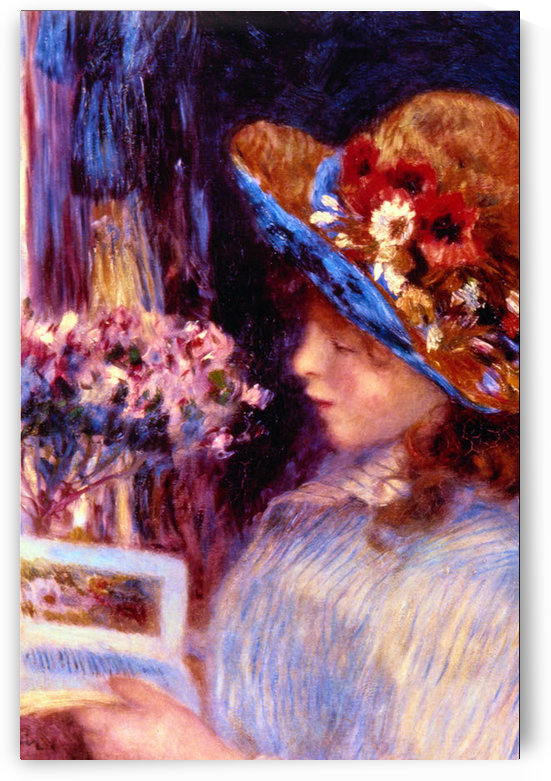 Girl Reading by Renoir by Renoir