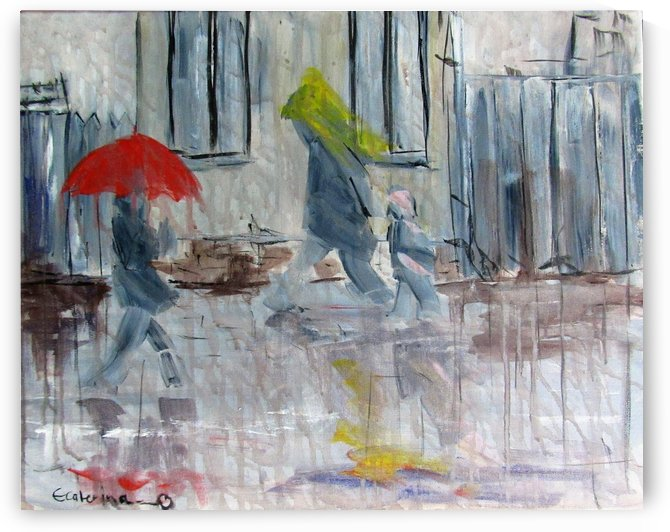 Rain on Hope street by Ecaterina