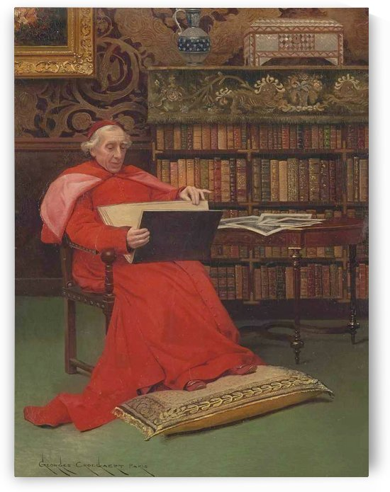 In the library by Georges Croegaert