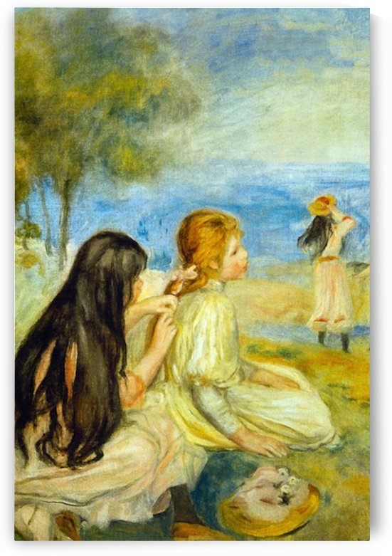 Girls by the Seaside by Renoir by Renoir