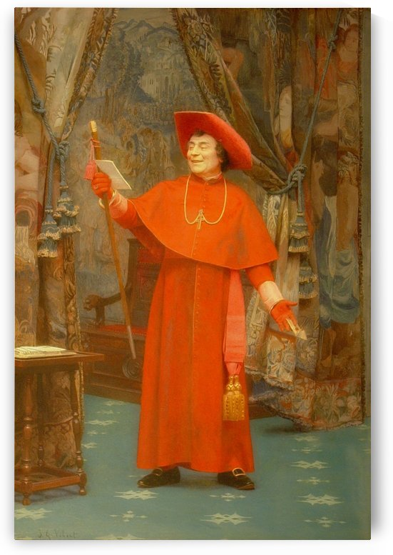 Cardinal, reading a letter by Vibert Jehan Georges
