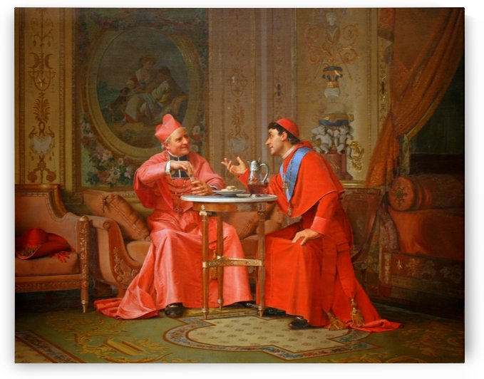 The cardinals friendly chat by Vibert Jehan Georges