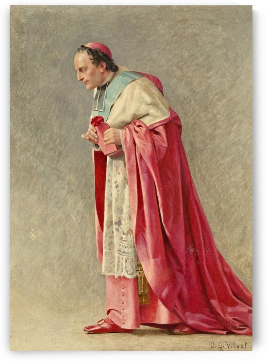 The cardinal by Vibert Jehan Georges