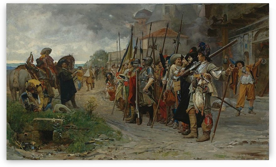 The appeal after pillage by Vibert Jehan Georges
