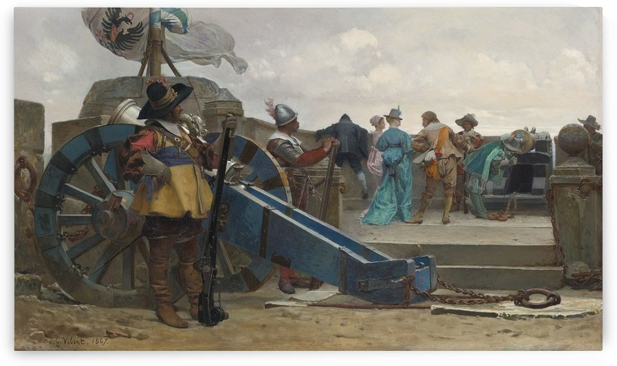 On the ramparts by Vibert Jehan Georges
