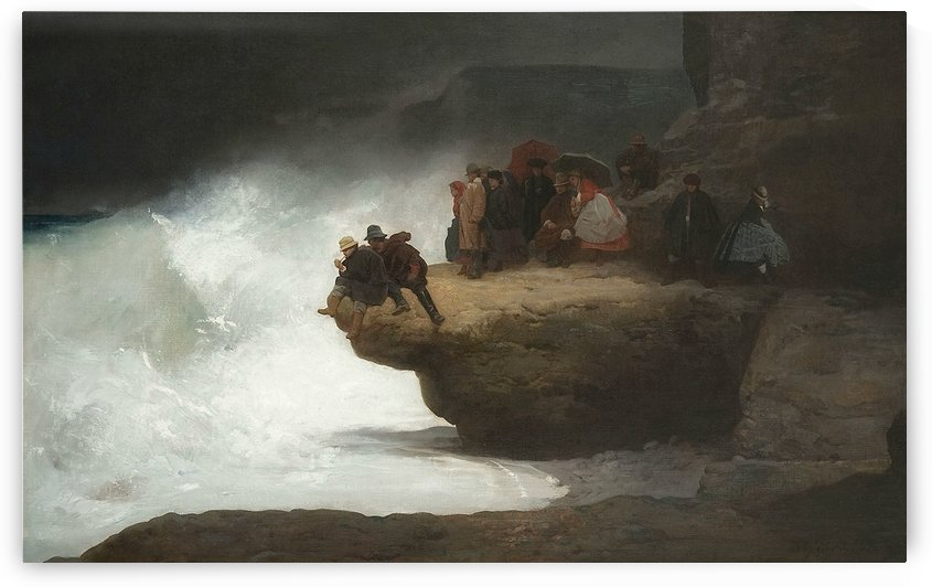 Figures on rocks at the edge of the sea, 1867 by Vibert Jehan Georges