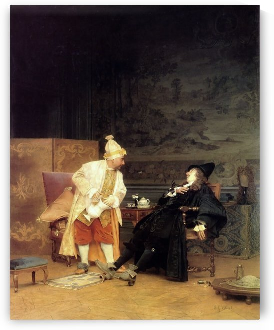 The sick doctor, 1892 by Vibert Jehan Georges