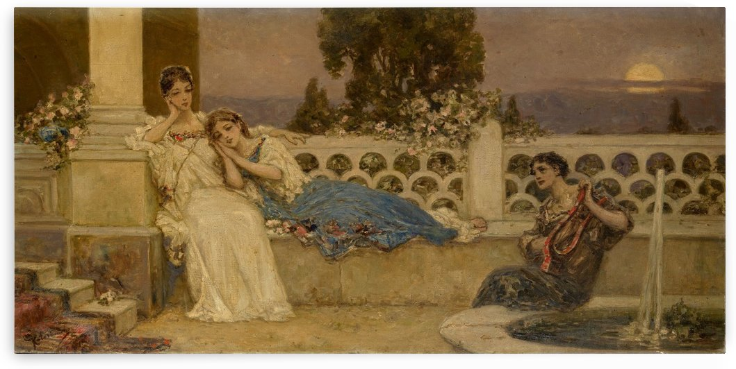 The Serenade by Vibert Jehan Georges