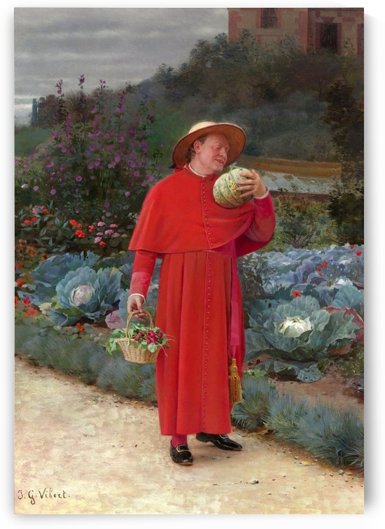 The ripe melon by Vibert Jehan Georges