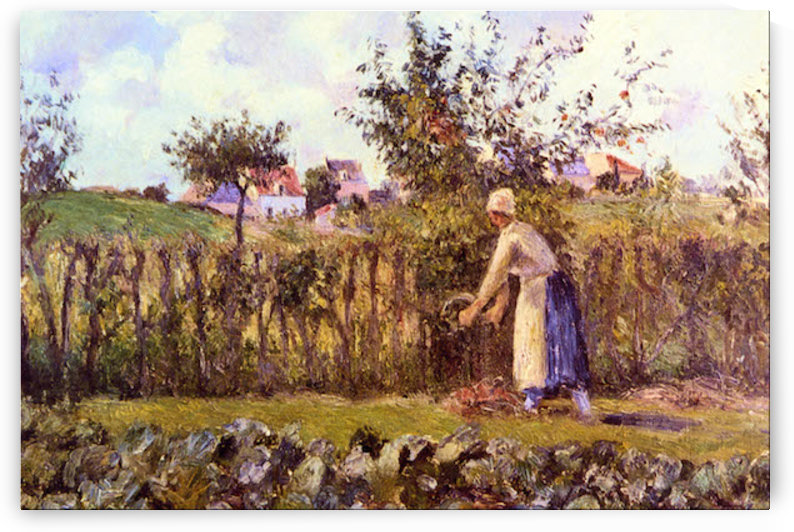 In the Orchard by Pissarro by Pissarro