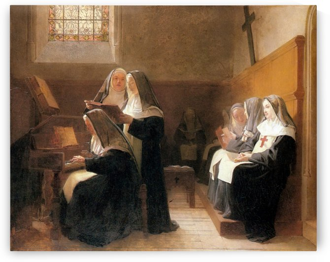 The convent choir by Vibert Jehan Georges