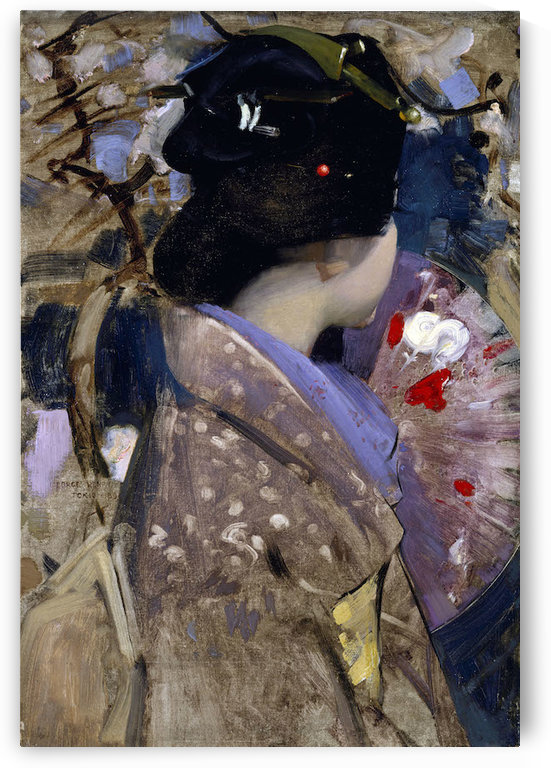 Japanese lady with a fan by Hardy by Hardy
