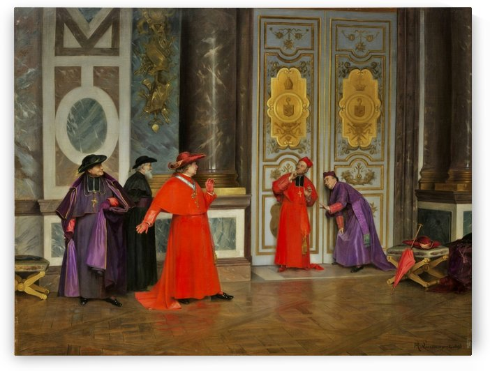 Cardinals in the living room by Henri Adolphe Laissement