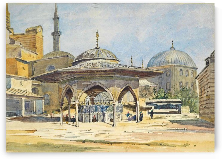 The Court of St Sophia, Constantinople by Augustus John Cuthbert Hare