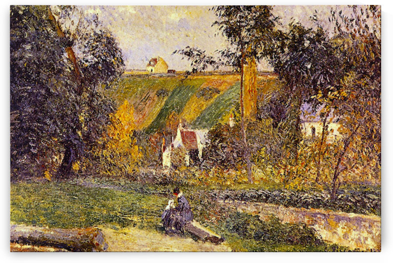 LHermitage Tontiose by Pissarro by Pissarro