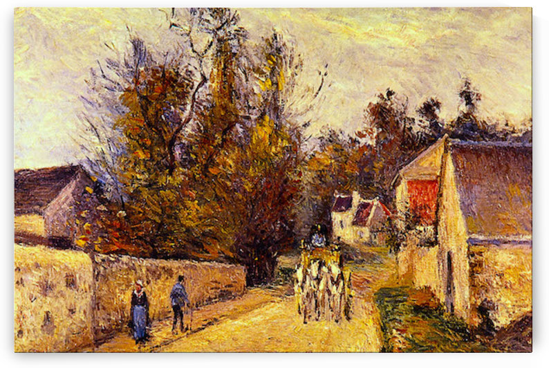La Diligence, Route dEnnery by Pissarro by Pissarro
