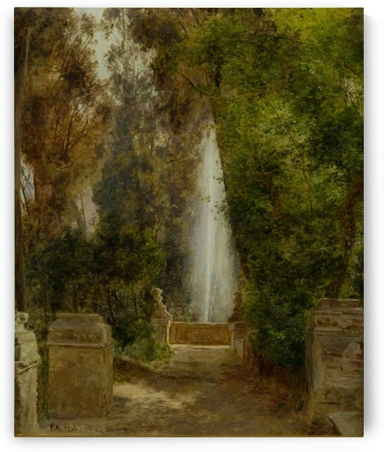 A fontain at the Villa dEste in Tivoli, near Rome, 1908 by Janus-Andreas La Cour