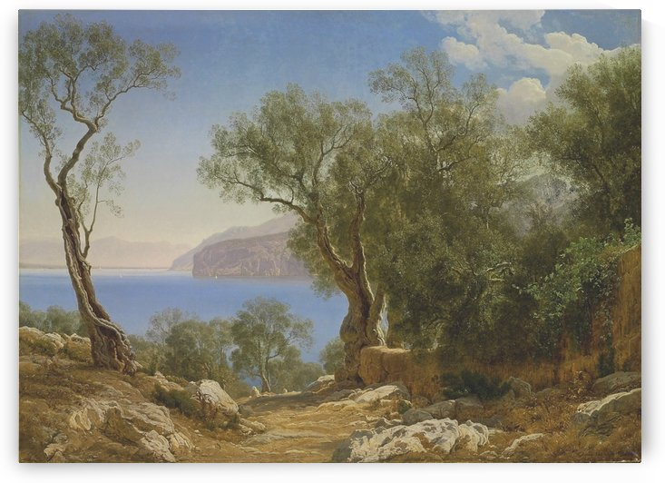 View of the Amalfi Coast by Janus-Andreas La Cour