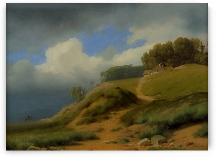 Plein air Danish landscape, 1843 by Janus-Andreas La Cour