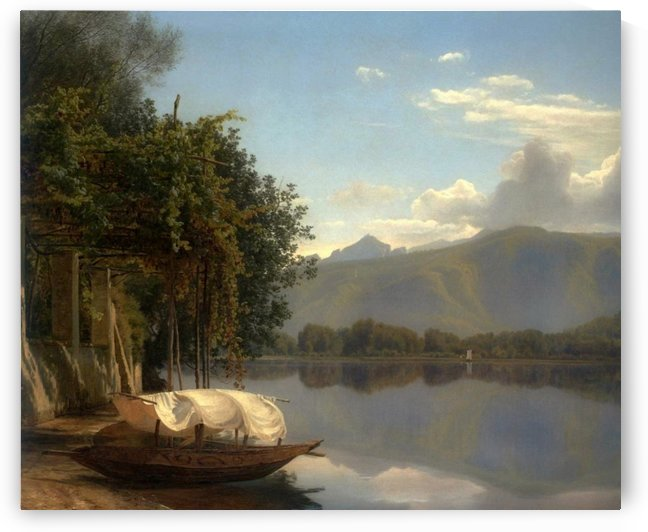 View of Lake Lugano by Janus-Andreas La Cour