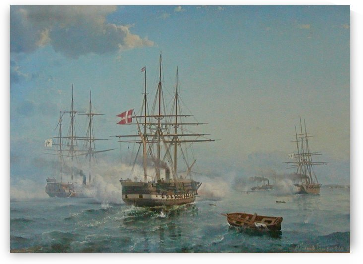 Affair off Svinemunde by Carl Frederik Sorensen