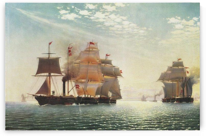 Transport fleet in Svendborg by Carl Dahl