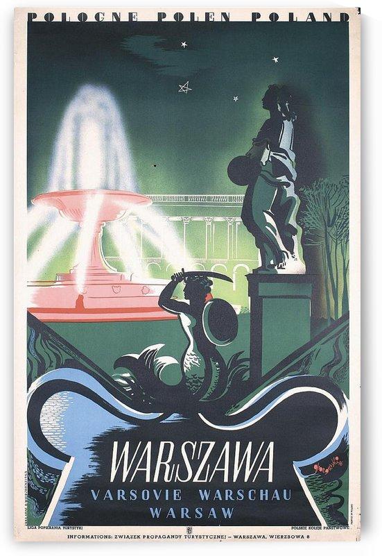 Old Original 1930s Polish Travel Poster by VINTAGE POSTER