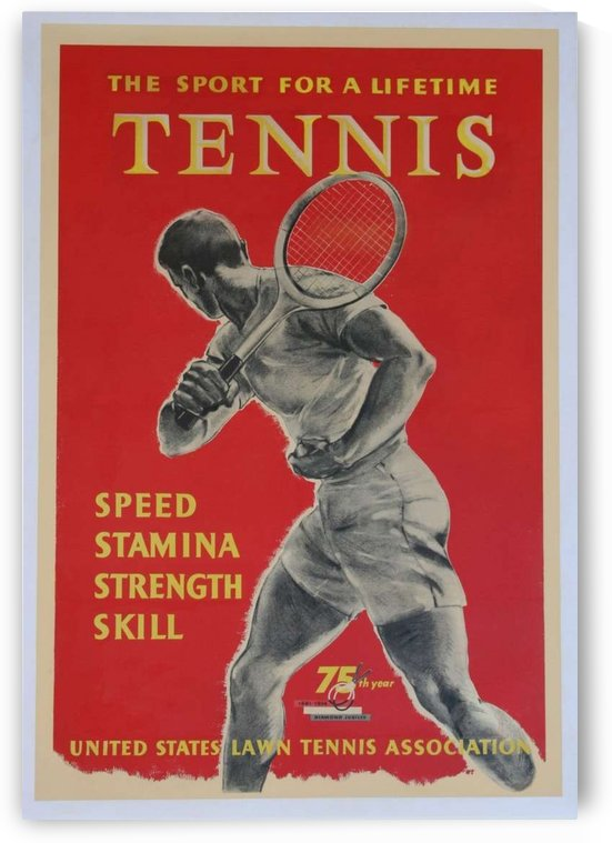 United States Lawn Vintage Tennis Poster in 1956 by VINTAGE POSTER