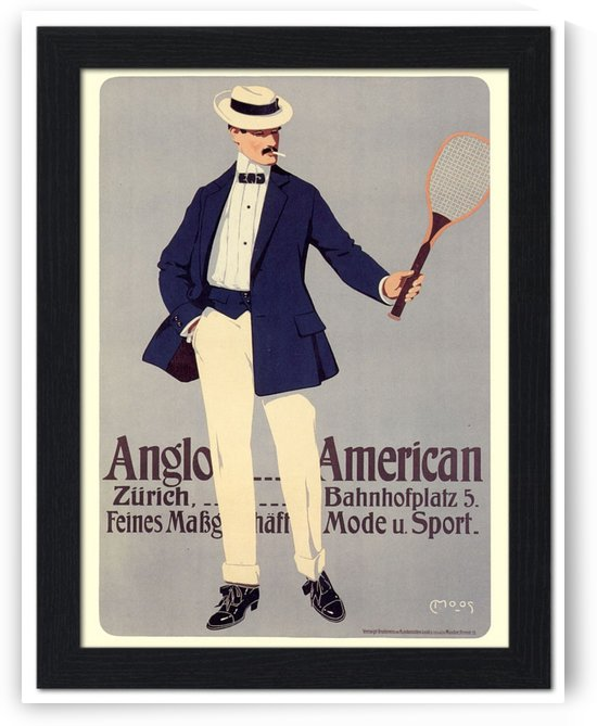 Anglo American Tennis, Sportwear Advert by VINTAGE POSTER