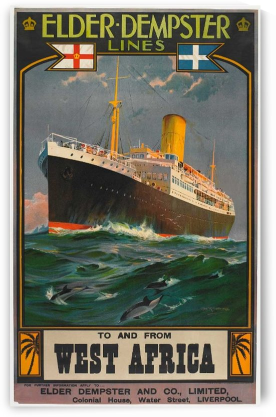 Vintage cruise poster for West Africa by VINTAGE POSTER