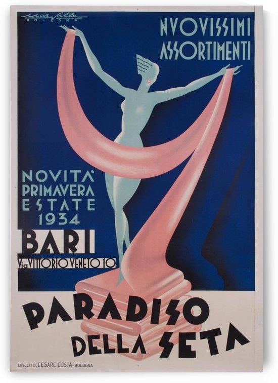 Paradiso della Seta vintage poster by VINTAGE POSTER