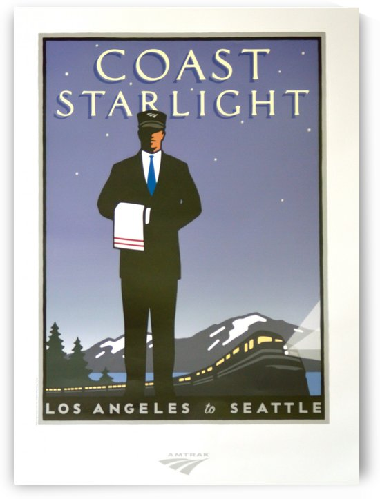 The Coast Starlight Vintage Poster by VINTAGE POSTER