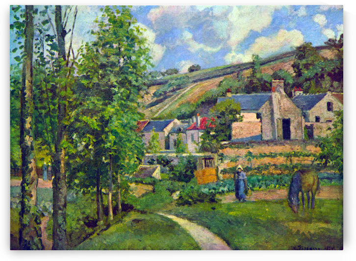 Landscape at Pontoise by Pissarro by Pissarro