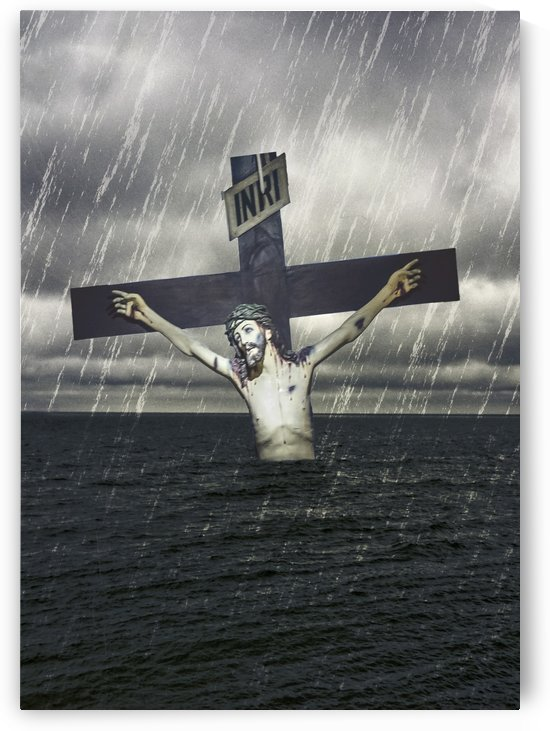 Jesus on the Cross at the Sea by Daniel Ferreia Leites Ciccarino