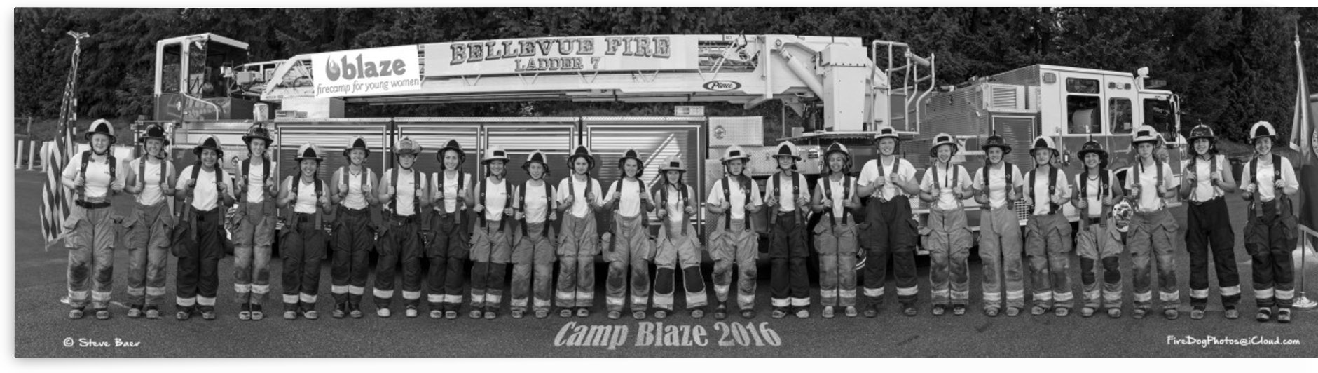 Camp Blaze Campers B/W by Steve