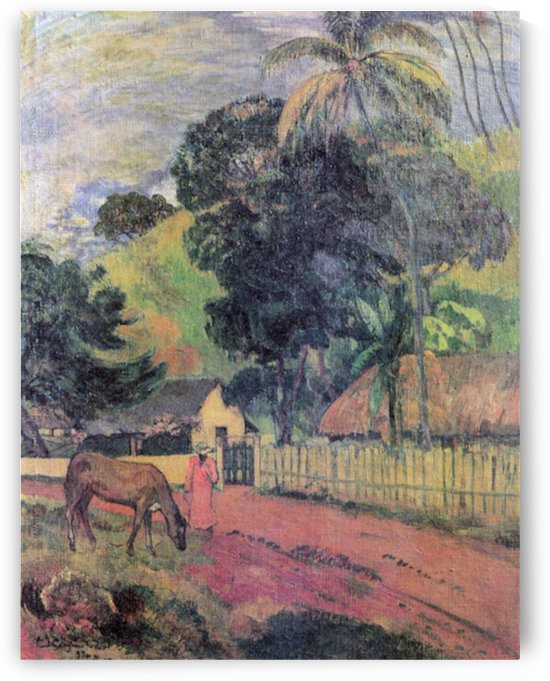 Landscape by Gauguin by Gauguin