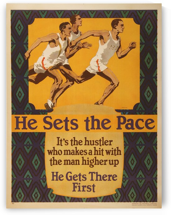 He sets the pace vintage poster by VINTAGE POSTER