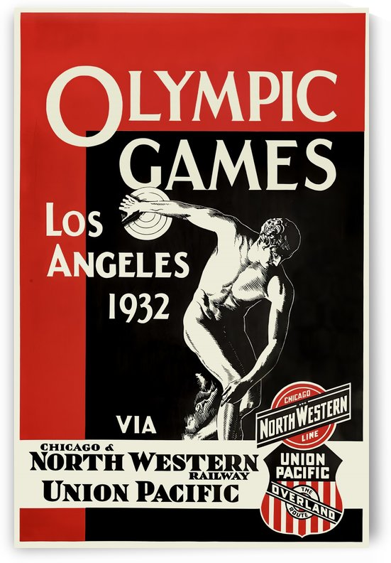 1932 Los Angeles Olympic Games Vintage Poster by VINTAGE POSTER