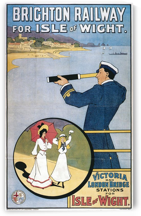 Brichton Railway for Isle of Wight poster by VINTAGE POSTER