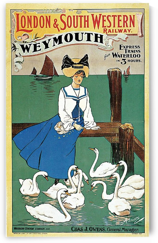 Vintage poster for London & South Western Railway by VINTAGE POSTER