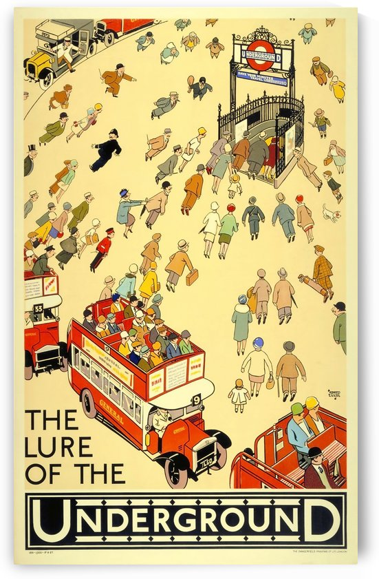 Vintage Travel Poster London Underground by VINTAGE POSTER