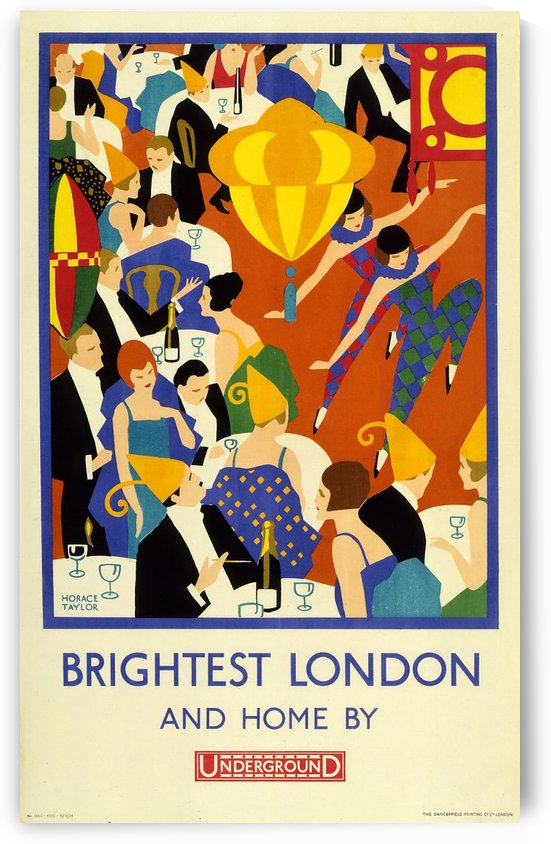 Brightest London and Home by Underground by VINTAGE POSTER
