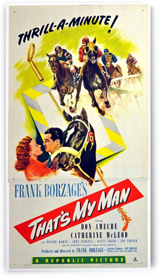 Original vintage 1947 movie poster for a horse racing film by VINTAGE POSTER