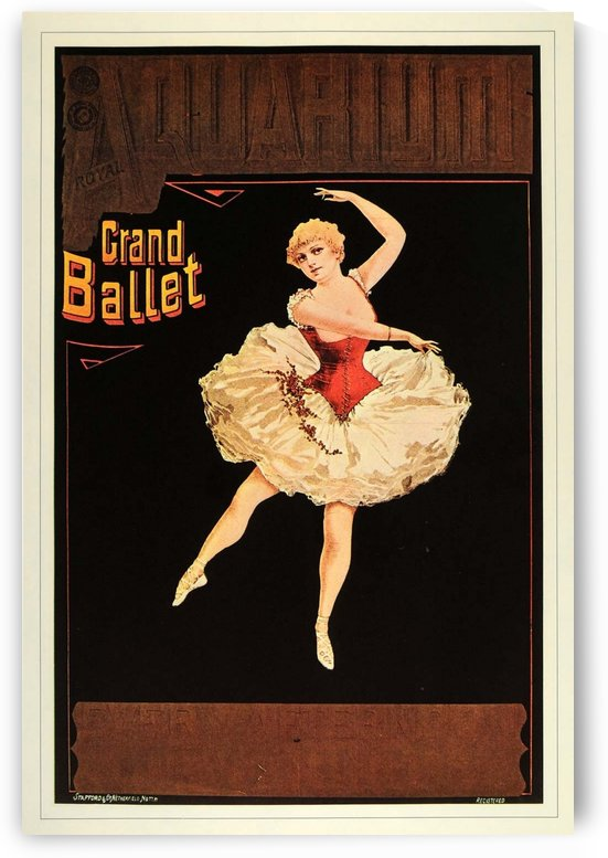 Aquarium Grand Ballet vintage poster by VINTAGE POSTER