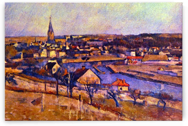 Landscape of Ile de France by Cezanne by Cezanne