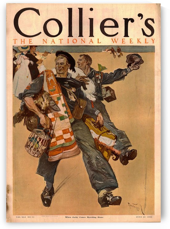 Reuterdahl Colliers Cover for June 20 by VINTAGE POSTER